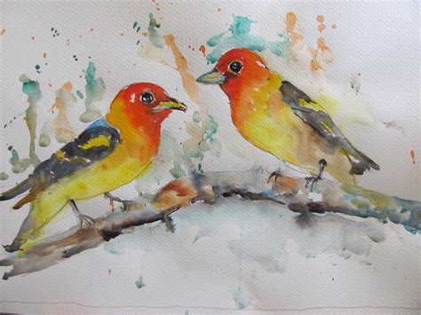 birds painting the watercolour log more bird paintings
