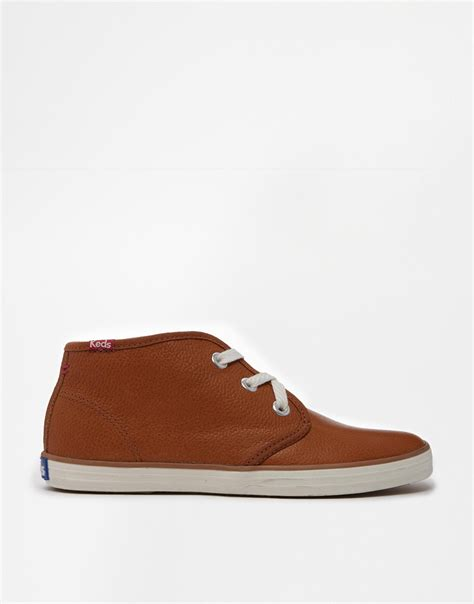 shearling lined sneakers keds chukka leather shearling lined sneakers in brown lyst