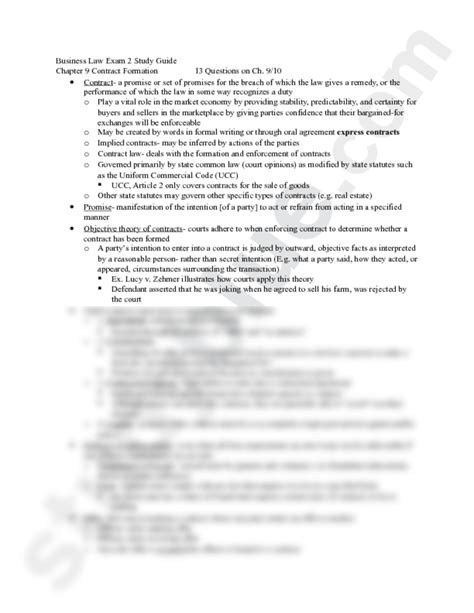 Business Laws And Ethics Mba Notes by Business 2 Study Guide Docx Business 301