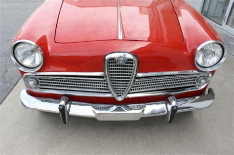 Alfa Romeo Giulietta Ti 1961 Alfa Romeo Giulietta Ti For Sale Photos Technical