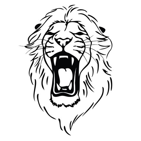simple tattoo of lion clipart best