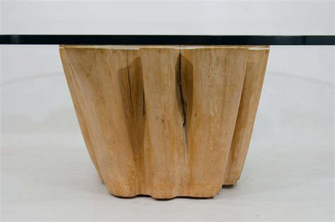 cypress tree trunk coffee table at 1stdibs