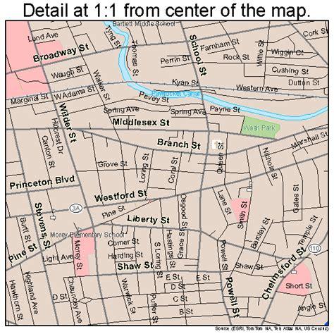 map lowell ma lowell massachusetts map 2537000