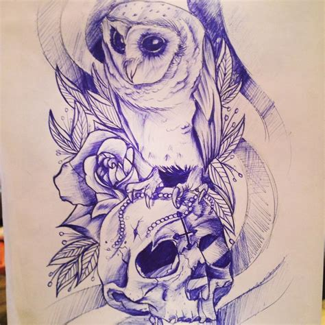 owl and skull tattoo designs owl skull design inspiring ink