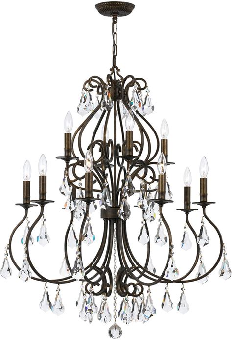 Crystorama Hton Chandelier Crystorama 5017 Eb Cl Mwp Ashton Bronze Chandelier Lighting Cry 5017 Eb Cl Mwp