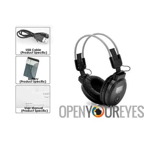 Headphone Micro Sd Player folding headphone mp3 player fm radio micro sd sd