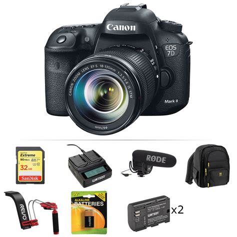 Canon Eos 7d Ii canon eos 7d ii dslr with 18 135mm lens and shotgun