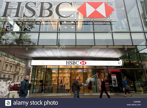 bank hsbc warsaw poland branch of hsbc bank stock photo royalty