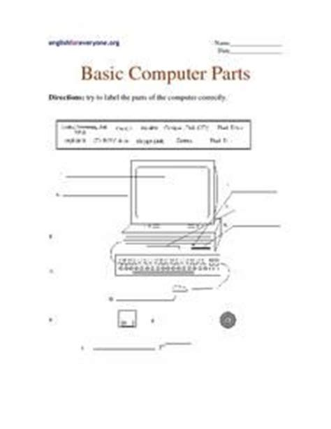 Computer Basics Worksheet by 17 Best Images About Digital Footprint On Computers Computer Lessons And