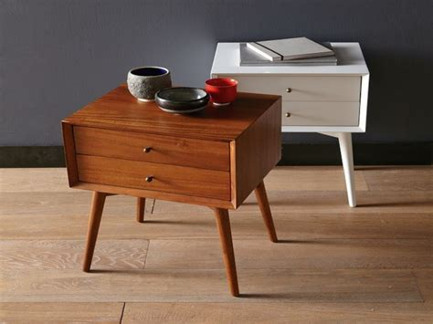side table bedroom modern bedside tables night stand west elm mid century