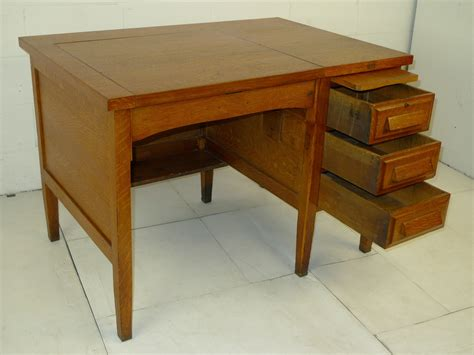 antique mission oak desk for sale mission arts crafts oak secretary single pedestal