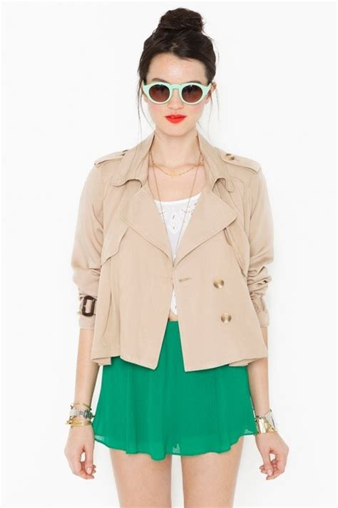 Cropped Trench Coats by Gal Cropped Trench Coat Summer Fashion Trends