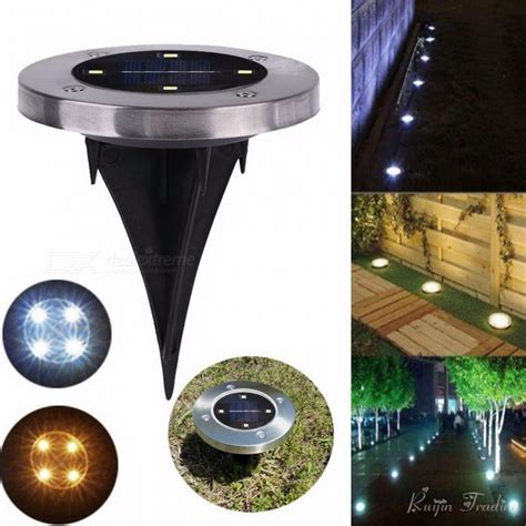 outdoor solar ground lights outdoor 4 led solar light ground water resistant path