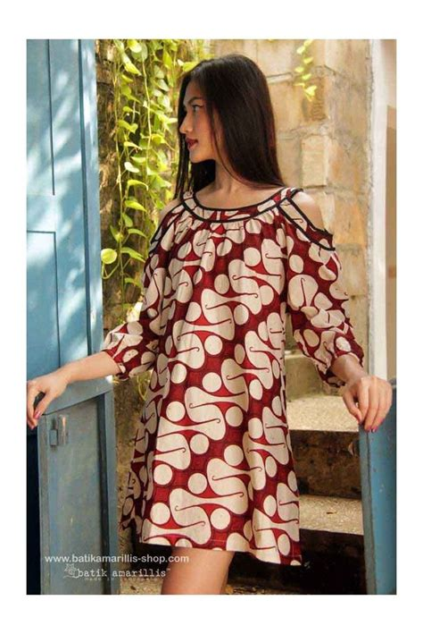 Baju Batik Fashion 30 best model baju batik dress images on batik dress batik fashion and kebaya