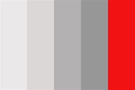 color schemes with grey grey red color palette