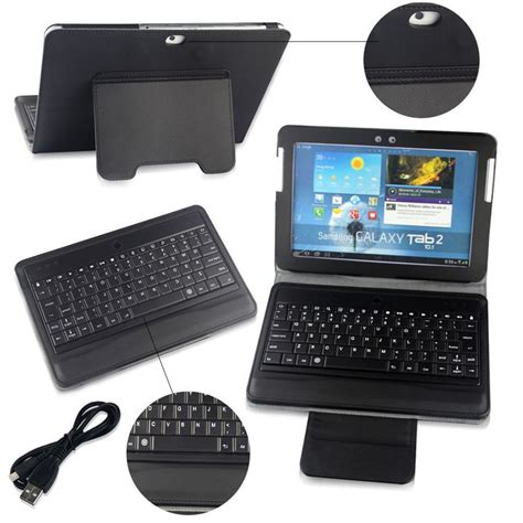 Samsung Galaxy Tab 2 Keyboard bluetooth keyboard leather for samsung galaxy tab 2