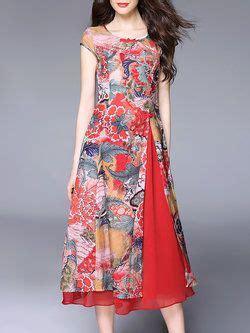 Baju Atasan Wanita Midi Dress Kimono Dress Wanita Pakaian Wanita sleeve crew neck silk midi dress dresses silk midi dress shorts