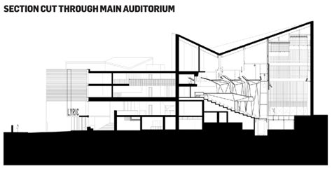 Section Cut by Lyric Theatre In Belfast By O Donnell Tuomey Building Studies Building Design
