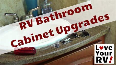 rv bathroom cabinet upgrades youtube