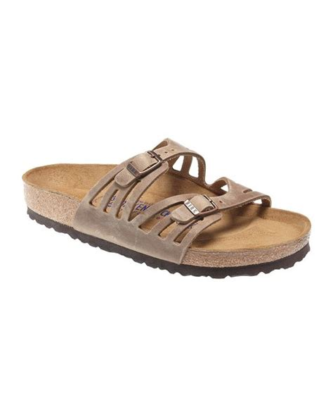 birkenstock granada sandals birkenstock granada suede sandals in brown lyst