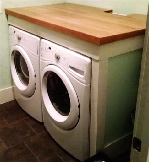 washer and dryer topper diy laundry room countertop washer dryer