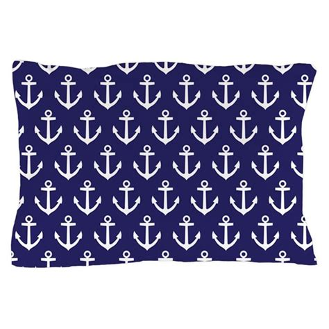 Navy Blue Pillow Cases by Anchor Nautical Navy Blue Pillow By Mainstreethomewares2