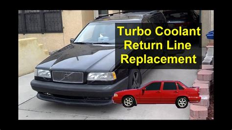 turbo coolant return hose replacement volvo    auto repair series youtube