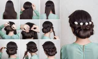 Updo perfect for a bride or her bridesmaids in just 10 easy steps