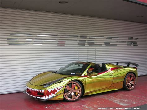 gold ferrari ferrari 458 spider uglier than ever