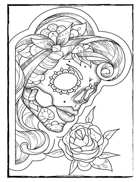 Skulls Coloring Book 17 best images about skulls to color on