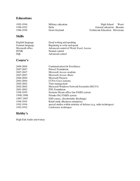 personal data in resume resume ideas
