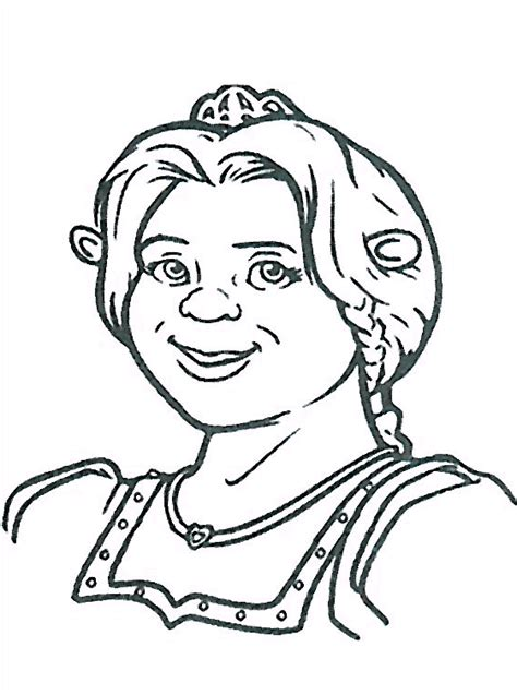 Princess Fiona Shrek Movie Coloring Pages To Print Princess Fiona Coloring Page Printable
