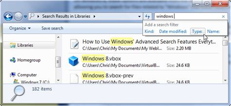 Search For Windows 7 How To Use Windows Advanced Search Features Everything