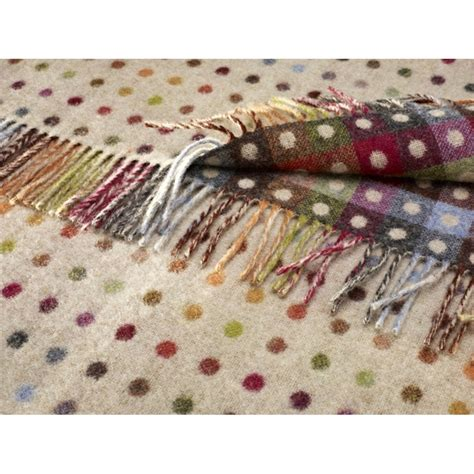 Multi Spot bronte multi spot check throw in beige available at black