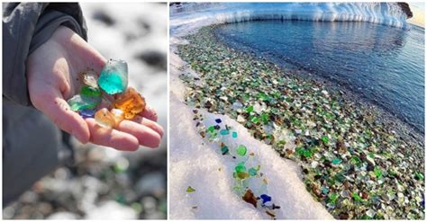 russian glass beach russia s sea glass beach sparkles in the sun