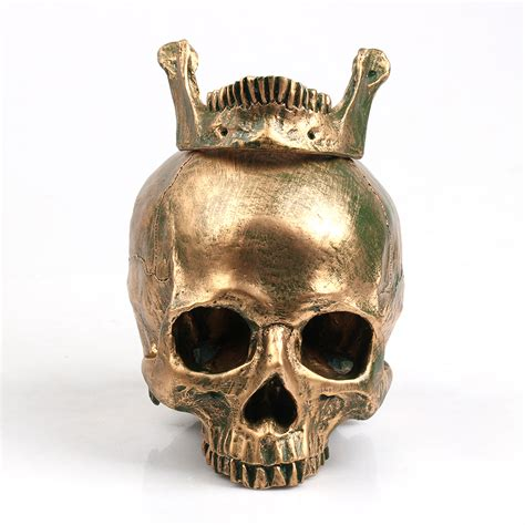 skull home decor bronze human skull resin craft home decor imitation skull