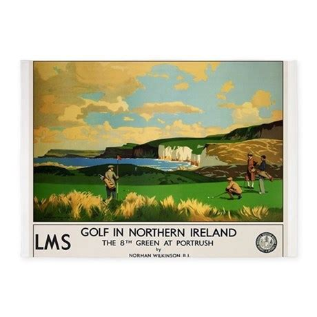 Northern Ireland, Golf, Vintage Poster 5'x7'Area R by