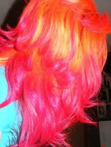 orange pink color orange and pink hair hair colors ideas