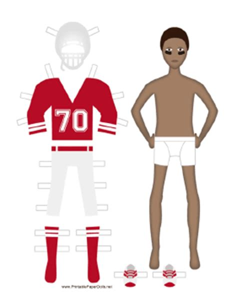 How To Make A Paper Football Player - football player paper doll
