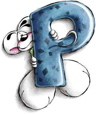 diddle lettere alfabeto diddl lettera p