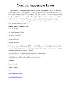Letter Of Agreement Contract Template 10 Agreement Sample Contract Template