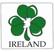 Irish Fun Stickers  Shamrock &amp Ireland Map Car