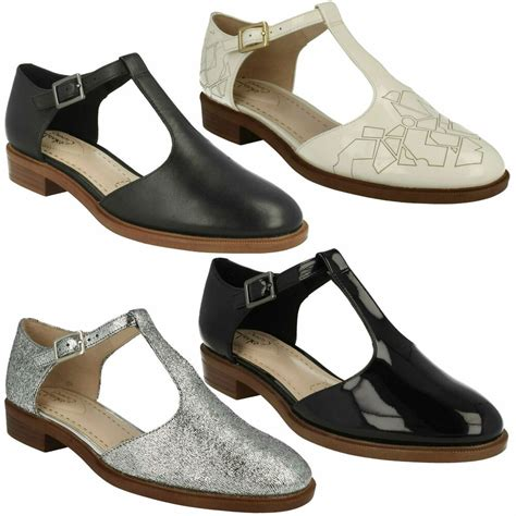 Buckled Patent Low Heel Shoes palm clarks t bar buckle leather pointed toe