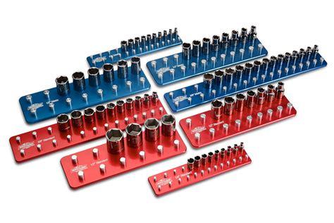 billet aluminum socket organizer set tool holders trays ebay