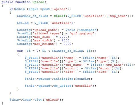 tutorial upload gambar codeigniter cara upload banyak gambar dalam satu form dengan codeigniter