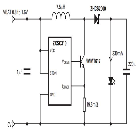 single transistor led driver 1 watt led driver circuit using a single 1 5 cell circuit diagram centre