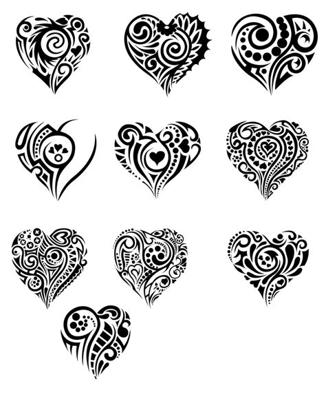 tribal pattern heart hearts in tribal by t3hspoon on deviantart