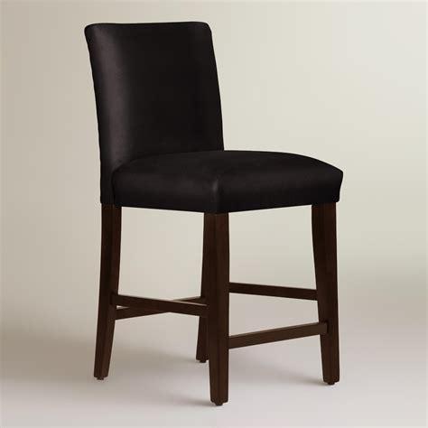Black Velvet Counter Stool by Velvet Kerri Upholstered Counter Stool World Market