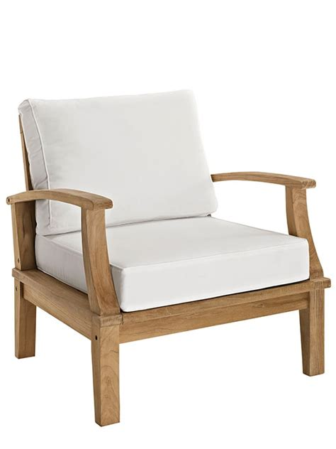 teak outdoor armchair modern furniture brickell collection
