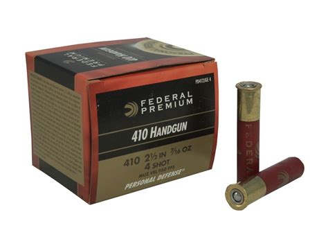 federal premium personal defense ammo 410 bore 2 1 2 7